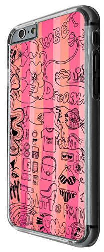922 - Collage Girly Needs Shopping Coffee Musix Hair Style Dress Makeup Design For iphone 6 6S 4.7'' Fashion Trend CASE Back COVER Plastic&Thin Metal -Clear