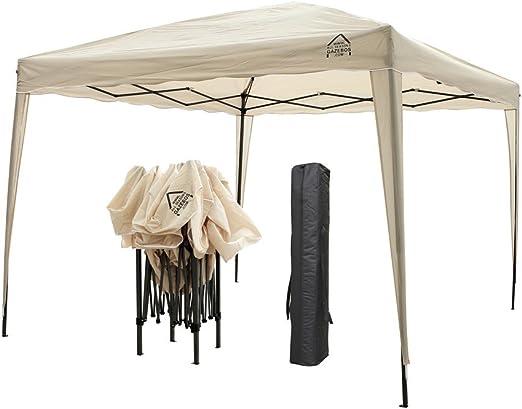 All Seasons Gazebos Pérgola de apertura instantánea con 4 patas, 4 bolsas de contrapeso y 2 barras contra el viento, incluye bolsa de transporte, 3 x 3 m, beige: Amazon.es: Jardín