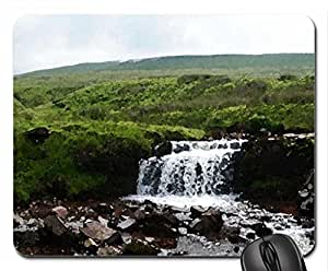Breacon Waterfall Mouse Pad, Mousepad (Waterfalls Mouse Pad, Watercolor style)