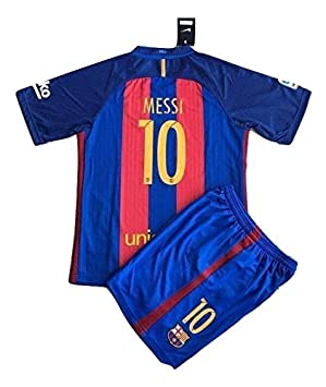 f4c17eb2a 2016 17 FC Barcelona Messi  10 Home Youths Football Soccer Kids Jersey    Short (11-13 Years Old)  Amazon.co.uk  Sports   Outdoors