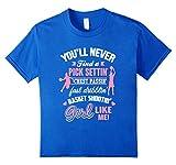 Kids Funny Basketball Shooting Girl T-Shirt Basketball Girls Tee 12 Royal Blue