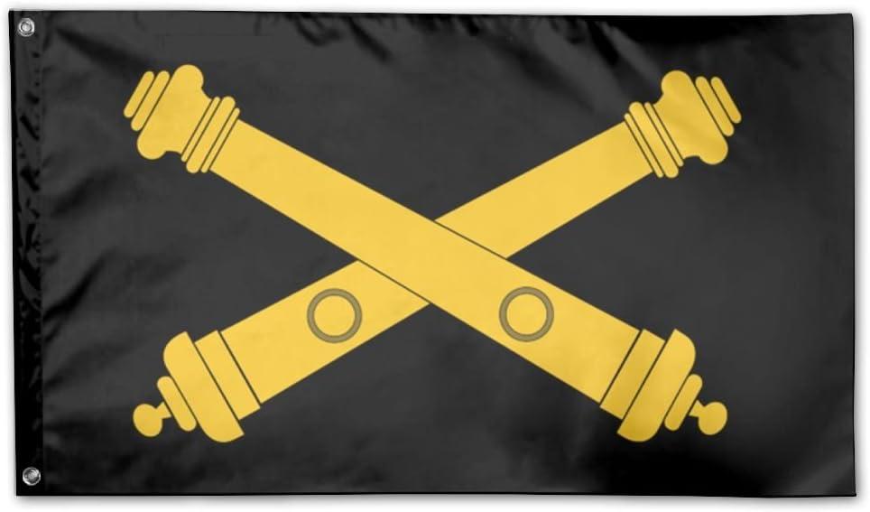US Army Field Artillery Logo Garden Flag 3 X 5 Flag For House Decoration Banner Black