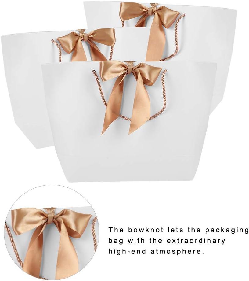 4 10 sacs de papier de cadeau de cadeau de PCs//lot avec la poign/ée pour les v/êtements faisant des emplettes maquillage emballage alimentaire