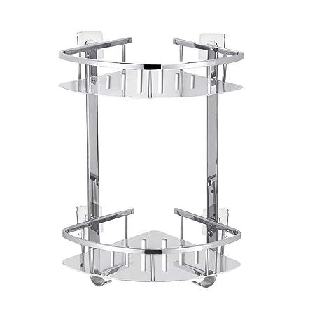 Foccoe Bathroom Corner Shower Shelf Shelves Corner Basket Two Tier