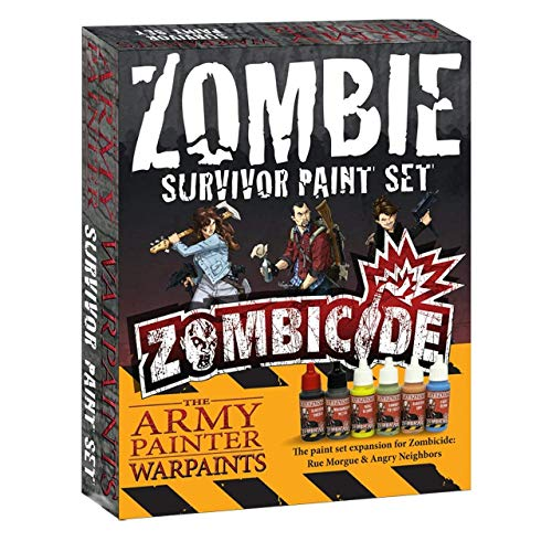 The Army Painter High-Pigment Zombicide Paints for Survivor Miniatures - 6 Dropper Bottle Zombicide Paint Set for Beginners and Advanced Hobbyists - Zombicide Survivor Paint Set by The Army Painter