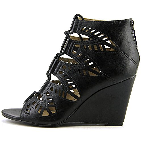 American Toe Casual Open Black Platform Lila Rag Womens Sandals IxqOxw