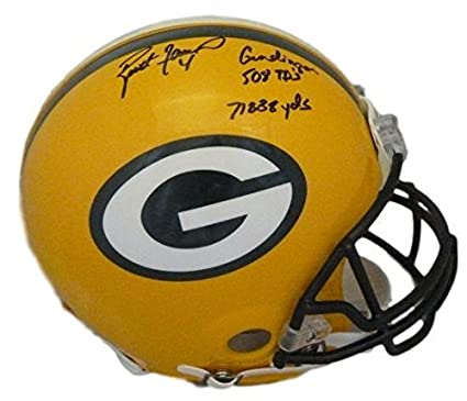 bb2f3eeda Amazon.com  Signed Brett Favre Helmet - Full Size Proline 3 Insc ...