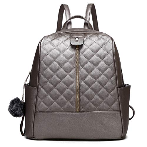 2018 New Handbag - Faux Leather Backpack Purse for Women, XB Waterproof Purse Fashion Backpack New Version 2018 (Pewter)