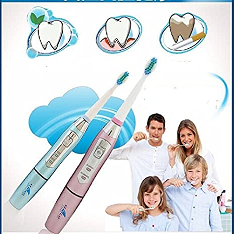 Amazon.com: Waterproof Seago Ultrasonic Electric Toothbrush Health+3 Replacement Heads 35000/min Professional Teeth Brush Oral Care Dental: Health ...