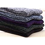 5 Pairs Cable Knit Cotton Boot Crew Socks For Women 5-9 WS19