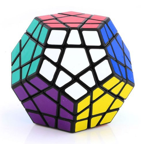 Shengshou Megaminx Black Puzzle Speed Cube Wings of wind