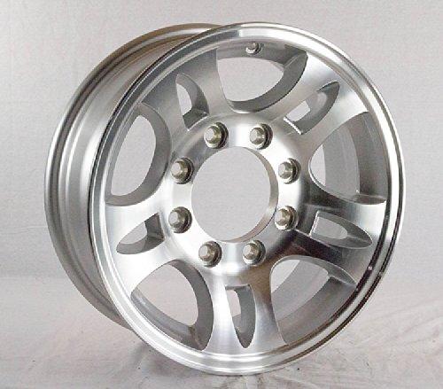 16 x 6 Aluminum Sendel T03 Trailer Wheel 8 Lug, 3,580 lb Capacity