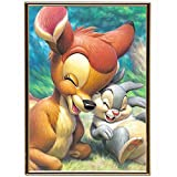 "Arts & Crafts : WesGen Cute Deer Rabbit 5D Diamond Painting Embroidery Cross Stitch DIY Art Craft Home Wall Decor 40cm x 30cm/15.6"" x 11.8"""