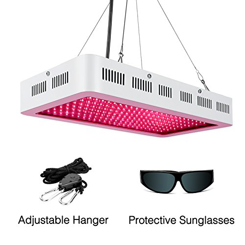 LED Grow Light for Indoor Plants 1000W,SMD LED Grow Lights Full Spectrum with UV/IR for Veg and Flower,Adjustable Hanging Hook Included by HYBERGROW