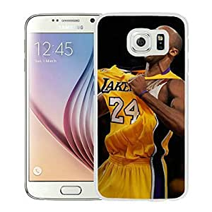 Popular And Unique Custom Designed Cover Case For Samsung Galaxy S6 With Kobe Bryant 4 White Phone Case