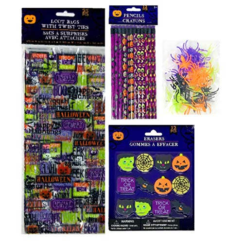 Halloween Party Favor Pack Includes 25 Loot Bags,