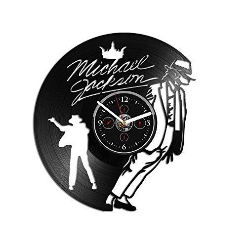 (RainbowClocks Wall Clock Vintage Michael Jackson Vinyl Clock Michael Jackson Wall Clock Michael Jackson Gift Vinyl Record Wall Clock 12 inch Clock Michael Jacks Clock Wall Clock Modern)
