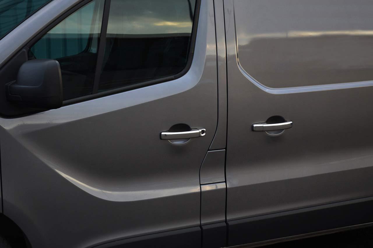 Juego de tapacubos cromados para tirador de puerta para Trafic 5dr (2014+): Amazon.es: Coche y moto