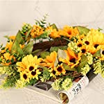 Mikilon-Artificial-Sunflower-Summer-Wreath-18-Inch-Decorative-Fake-Flower-Wreath-with-Yellow-Sunflower-and-Green-Leaves-for-Front-Door-Indoor-Wall-Dcor-Yellow