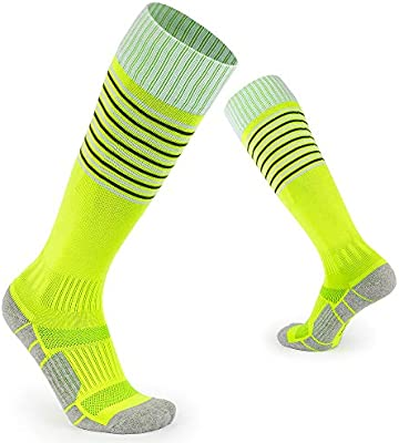 12 pairs BOY/'S stripey grey// black// green COTTON football socks children/'s