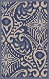 Surya Kate Spain MRS2006-3353 Hand Woven Casual Accent Rug, 3-Feet 3-Inch by 5-Feet 3-Inch, Cobalt/Ivory/Slate