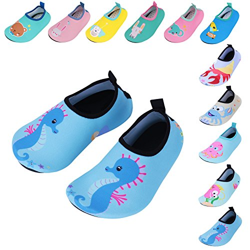 - Caitin Kids Swim Slippers Water Shoes Barefoot Aqua Socks for Girls Boys Beach Pool Surfing Yoga Shoes