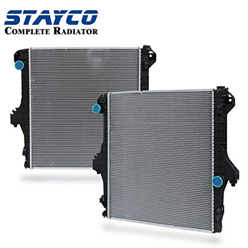 STAYCO Cooling 2-Row Radiator Replacement for Dodge Ram 2500 4000 4500 5500 2003 2004 2005 2006 2007 2008 2009 5.9L/6.7L (Base Dodge 2500 Ram)