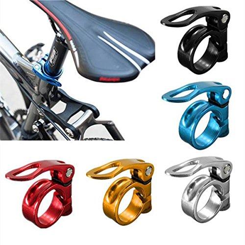 ELEGIANT 34.9mm Legierung MTB Radfahren Fahrrad Fahrradsattelstütze Sattelklemme mit Fahrrad Schnellspanner Sattelklemmbolzen Binder Clamp Schwarz