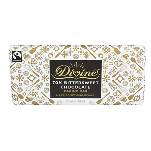 Divine Chocolate 70% Bittersweet Chocolate Baking Bar, 5.3 Ounce