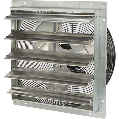 Strongway Totally Enclosed Direct Drive Shutter Exhaust Fan - 20in., 2-Speed, 2930/2465 CFM
