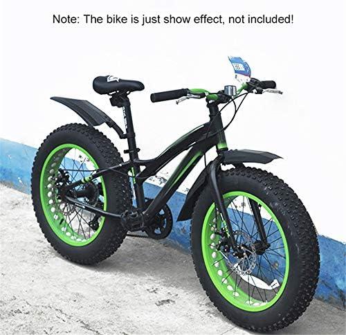 DEI Snow Bike guardabarros de cubierta completa Bicicletas delantero trasero ensanchado defensas Set Splash Guard para grasa neum/ático bicicleta de monta/ña