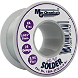 "MG Chemicals 63/37 Rosin Core Leaded Solder, 0.025"" Diameter, 1/2 lbs Spool"