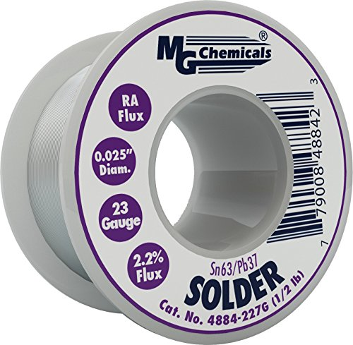MG Chemicals 63/37 Rosin Core Leaded Solder, 0.025