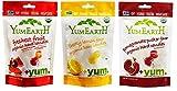 YumEarth Organic Gluten Free Vegan Candies 3 Flavor Variety Bundle: (1) Assorted Flavors, (1) Cheeky Lemon, and (1) Pomegranate, 3.3 Oz. Ea.