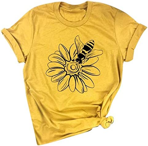 Meikosks Cute Graphic Blouse Womens Short Sleeve Print Tee Tops Summer O Neck T Shirt