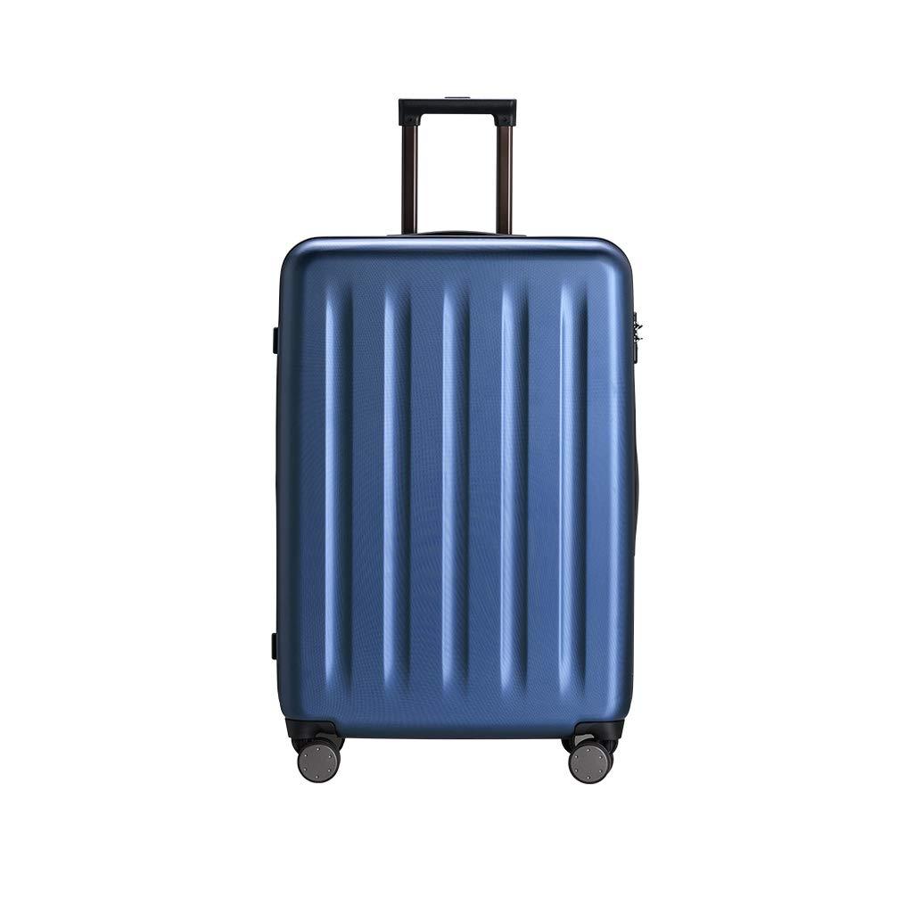 耐圧飛散防止スーツケース 荷物ユニセックス20インチユニバーサルホイールのパスワードロックスーツケース (色 : 青)   B07GXFK14G
