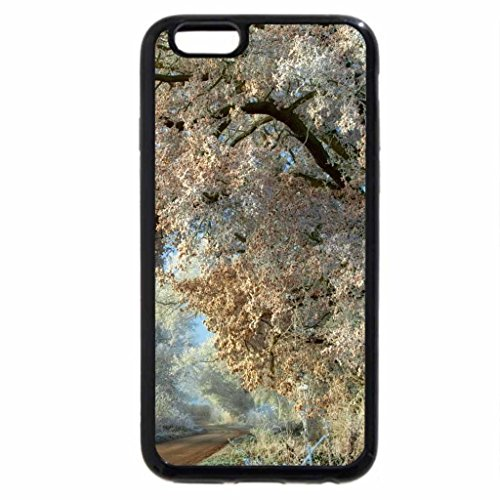 iPhone 6S Case, iPhone 6 Case (Black & White) - lovely countryside road in winter