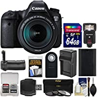 Canon EOS 6D Digital SLR Camera Body & EF 24-105mm IS STM Lens with 64GB Card + Flash + Battery & Charger + Grip + 3 Filters + Kit Overview Review Image