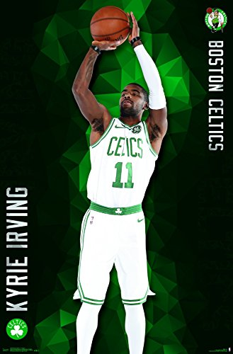 Trends International Boston Celtics Kyrie Irving Wall Poster  22 375  X 34