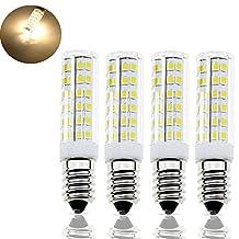 Bonlux E14 SES LED Bulb 6 Watt, Warm White 3000K, 50 Watt E14 Halogen Replacement, 360 Degree Lighting, 110V Small Edison Screw Base Corn Light Bulb (Warm White, 4)