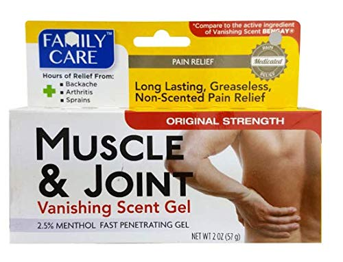 50 Pack Muscle & Joint - Vanishing Scent Gel, 50 of the 2 Oz Tubes