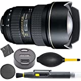 Tokina AT-X 16-28mm f/2.8 Pro FX Lens for Canon with Front and Rear Lens Caps Rubber Crevice Blower Lens Brush & Ultrasoft Microfiber Wiping Cloth Ultrawide Lens for Canon - International Version