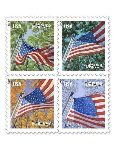 USPS Forever Stamps-a Flag for All Seasons! Self-Adhesive! 3x Booklets of 20! 60 in Total! Good Forever!