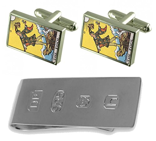 Fool James Tarot amp; Cufflinks Fool Clip Card Bond Tarot Card Money PRnx0OUxt