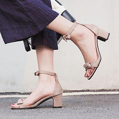 Femmes Chaussures Sandales Ouvert TAOFFEN Bout Apricot wtSWf