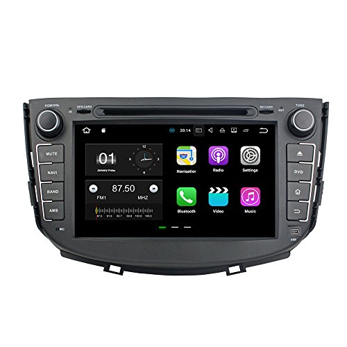 JCOLI 8'' Android 7.1 Car DVD Stereo Radio GPS Player for Lifan X60 With Camera 2016 Map