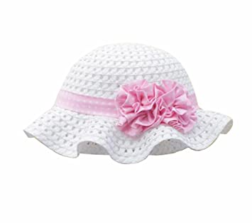 cc31a354738 Image Unavailable. Image not available for. Color  Summer Baby Girl Caps  Cotton Sun Hat For 2-3 Years Baby White ...