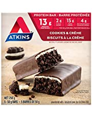 Atkins Cookies & Crème Protein Meal Bar - 5pk