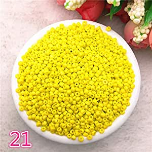New 1000 pcs 2mm Charm Glass Beads Necklace DIY Bracelet for Making Jewelry Accessories,21