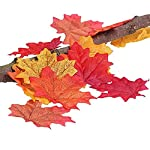 Artificial-Maple-Leaves-Approximately-Assorted-Mixed-Fall-Rich-Artificial-Flower-Fall-Colored-Silk-Maple-Leaves-for-Weddings-Autumn-PartyEvents-and-Decorating-Hardwork-400pcs-8-colors